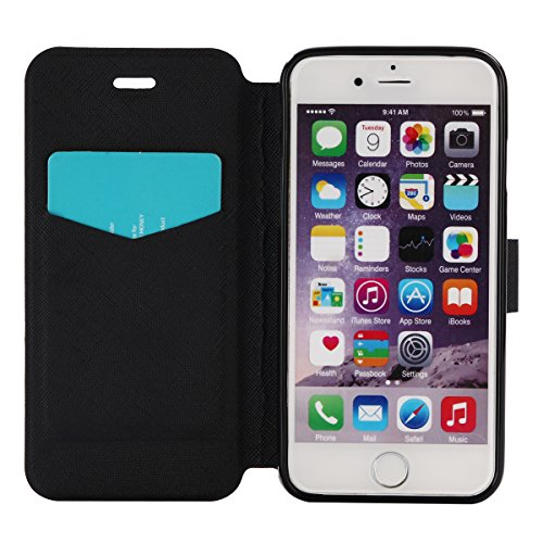 Coque pour Apple iPhone 6s Plus(5.5 Zoll ),Housse en cuir pour Apple iPhone 6s Plus(5.5 Zoll ),Ecoway Colorful imprimé étui en cuir PU Cuir Flip Magnétique Portefeuille Etui Housse de Protection Coque Carte géométrique