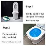UEETEK Pet Toilet Training Seat for Cats Potty Training Tray Cats Kit (Blue) 11