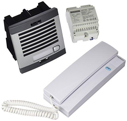 fermax-6201-kit-portero-automtico-1-lnea-color-gris-y-negro