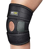 Knee Support Open Patella Stabiliser, Medical Grade Breathable & 3 Way Fully Adjustable Neoprene Brace Strap, Arthritis Joint Tendon Pain Relief, Sports Running Injury   Recovery and Protection, Left or Right Knees Wrap Around For Women Men One Size