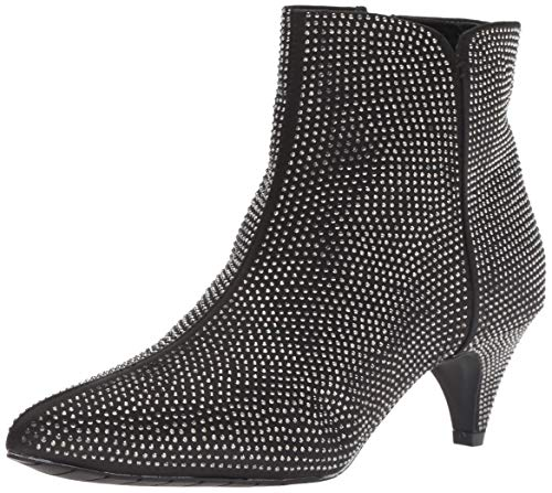 Kenneth Cole REACTION Damen Kick Bit Kitten Heel Bootie Stiefelette, schwarz/Silber, 37 EU Kenneth Cole Satin Pumps