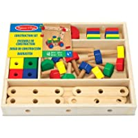 Melissa & Doug 15151 Wooden Construction Building Set in a Box, 48 Pieces