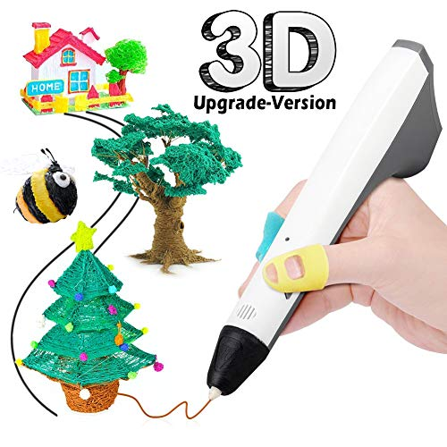 3D Drucker Stift, 3D Stifte Set für Kinder mit 1,75mm PCL Filament 2 Farben, 3D Stift für Erwachsene, Bastler zu kritzeleien, basteln, malen und 3D drücken (Valentinstag-basteln Erwachsene Für)