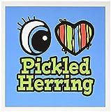 3drose Bright Eye Herz I love bismarckhering–Grußkarten, 15,2x 15,2cm, Set 6(GC 106383_ 1)