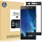 EasyULT Verre Trempé Sony Xperia XA1[2-Pièces], Sony Xperia XA1 Protection écran Protecteur d'écran Full Vitre Trempe Screen Protector(Couverture Complète)(Noir)