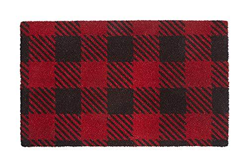 Fußmatte Welcome Mat Front Door Mats Outdoor Mats Buffalo Plaid Rustic Decor Kokosfaser 7,6 x 1,5 ft -
