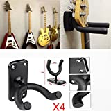 MultiWare Guitar Display Bracket Wall Mounted Guitar Hanger Hook Holder 4pcs