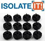 Sorbothane Isolate It PaSSE-CABLE DE 70 4,8 mm ID - 12,4 mm env.)-Lot de 12