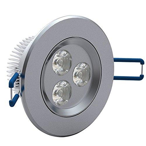 vidaXL 12x 3W LED Spot Einbauleuchte Warmweiß Strahler Set Decken Leuchte Lampe (Fall Große Pille)