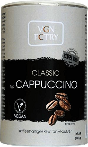 VGN FCTRY Instant Cappuccino Classic weniger Süß 280g Vegan