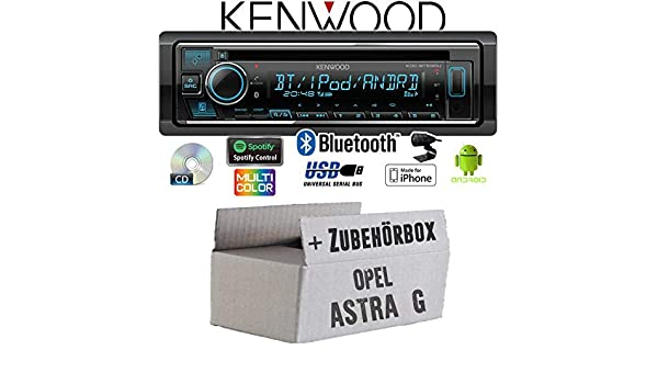 JUST SOUND best choice for caraudio CD//MP3//USB Spotify Einbauzubeh/ör iPhone Bluetooth Android Autoradio Radio Kenwood KDC-BT530U Einbauset f/ür Opel Astra G