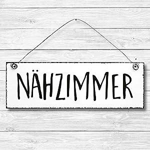 Nähzimmer – Dekoschild Türschild Wandschild aus Holz 10x30cm – Holzdeko Holzbild Deko Schild