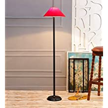 Red Cotton & Stiffner Stick Floor Lamp /Standing Lamp By New Era For Living Room /Drawing Room/Office/Bedroom/Decoration /Corner/Gift/Lobby