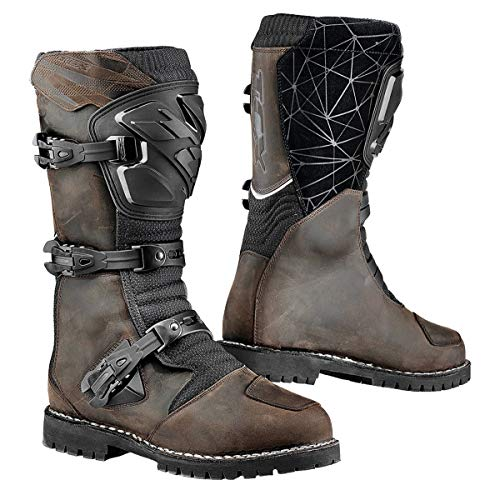 7160W - TCX Drifter WP Leather Motorcycle Boots 43 Brown (UK 9)