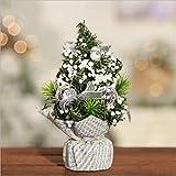 LNNANA Mini Weihnachtsdekoration Baum Weihnachtsbaum Weihnachtsdekoration Exquisite Dekoration Kleiner Baum Mit Schmuckset Pailletten Unten (Silber)