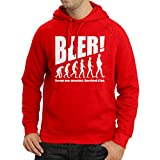 N4534H Kapuzenpullover The Beervolution (Small Rot Weiß)