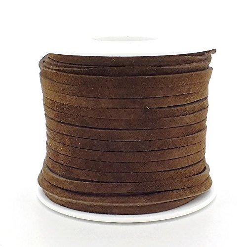 suede-bobine-de-ficelle-plate-en-cuir-vritable-daim-3mmx2mmarron
