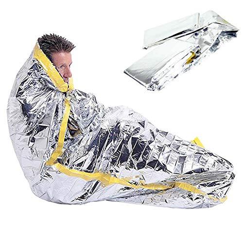 Bivy Bags Sac de Couchage d'urgence LIUSIYU, Film en Aluminium PE pour Sac de Couchage, Couverture imperméable légère imperméable à l'eau de Secours pour la Survie en Camping