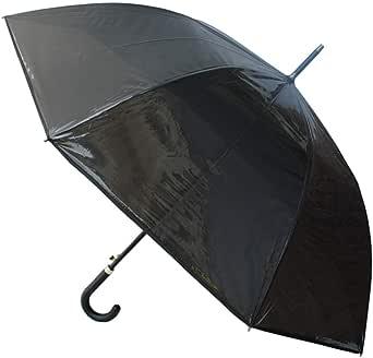 Collar And Cuffs London Selten Transparenter Regenschirm Mit Schwarzer Tönung Windproof 132 Cm Bogen Sehr Stark Verstärkt Mit Fiberglas Automatik Stockschirm Transparent Rutschfeste Griff Bekleidung