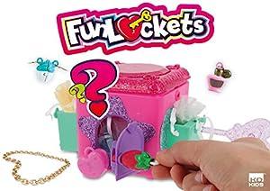 KD KIDS Funlockets S18200 - Caja para Secretos en Expositor (16 Unidades), Color Rosa y Morado