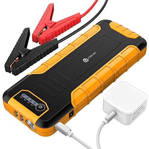 20000mAh Tragbare Auto Starthilfe, iClever Autobatterie Anlasser (bis zu 8L Gas oder 6,5L Dieselmotor) Jump Starter Externes Akku-Ladegerät mit LED Taschenlampe