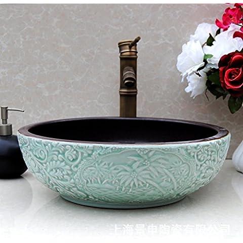 Vaso bagno lavandino arte Lavabo,continentale sculture Ceramica