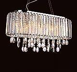 *Modern pendant light Kristall-Kronleuchter, Restaurant Beleuchtung, Schlafzimmer Wohnzimmer Decke, rechteckige Kronleuchter Haushalts Kronleuchter (Farbe : Transparent color-60 * 26cm)