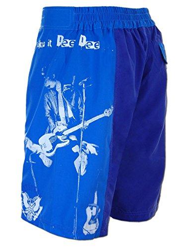 SEESTERN Herren Boardshorts Surfshort Ramones Print Boardshort Shorts XXS-3XL Dee Dee_Royalblau