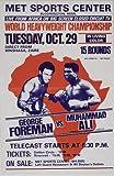 Muhammad Ali vs George Foreman Reproduktion Boxen promo Foto Poster 40x30 cm