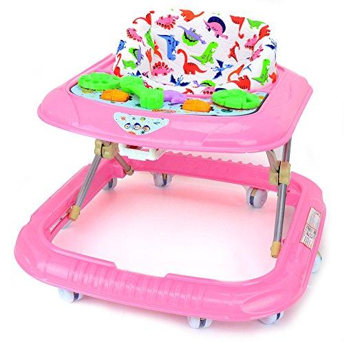 Babywagen Laufhilfe Lauflernhilfe Babywalker Gehhilfe (Rosa)