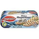 Saupiquet filet de maquereaux grillés natures 1/4 120g (Prix Par Unité) Envoi Rapide Et Soignée