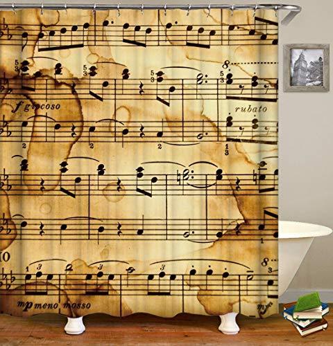 Spectrum Klar Bad (Ancient Music Spectrum Sleek Minimalist Duschvorhang. Wasserdicht. Schimmelresistent. Einfach zu reinigen.180x180cm)