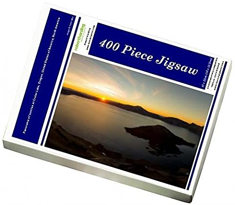 Photo Jigsaw Puzzle of Panorama of sunrise at Crater Lake,