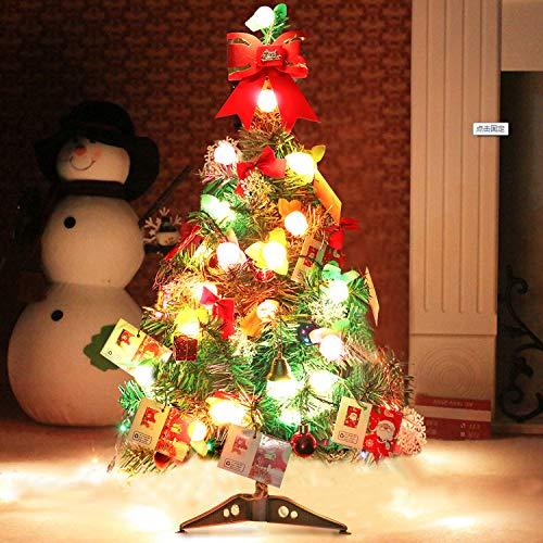 outgeek Künstlicher Weihnachtsbaum, Tannenbaum Christbaum 60cm(24'') grün Weihnachtsbaum klein mit Beleuchtung Multicolor LED und Weihnachtsschmuck (60 cm mit LED und Ornaments) (Christmas Ornament Wc)