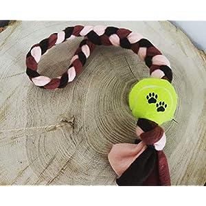 Hundespielzeug – Fleecezergel mit Ball