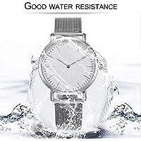 fgjhfghfjghj Simple Design Ultra Thin Men Wrist Watch Business Style Round Shape Stainless Steel Strap Quartz Watch Birthday Gift