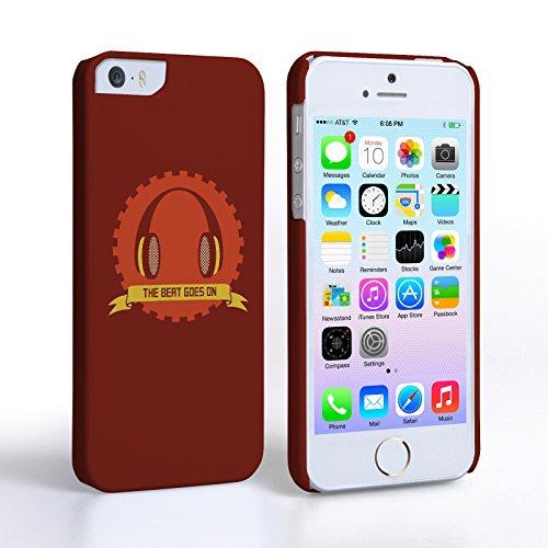 Caseflex Coque iPhone 5 / 5S Etui Rouge The Beat Goes On Musique Dur Housse