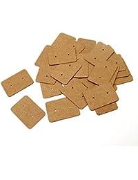 200pcs Etiquetas de regalo de papel de estraza pendientes forma 2,5 cm x 3