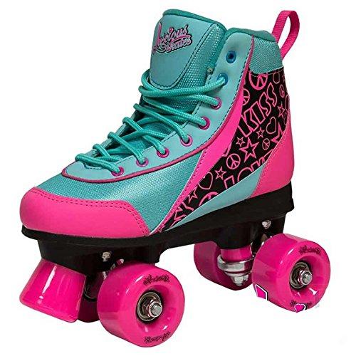 Luscious Skates Retro Disco Rollschuhe Kinder Summer Days EU 38 (schwarz pink blau)