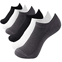 MD Ultra Soft Athletic Bamboo Socks for Women and Men with Seamless Toe No Show Casual Socks 6 Pack 2Black/2White/2Grey7-9