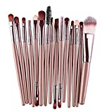 Zedo Make-up-Pinsel-Set 15 Stück Make Up Pinsel Set Schmink Pinselset Etui Schminkpinsel Makeup Brush Set Professionelles Tool-Set für Eyeliner, Set Kosmetik Pinsel Set Lidschatten Make-up Pinsel Set