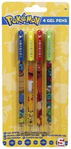 Juego de 4Pokemon bolígrafos de gel escritura escuela papelería regalo para niños de colores nuevo