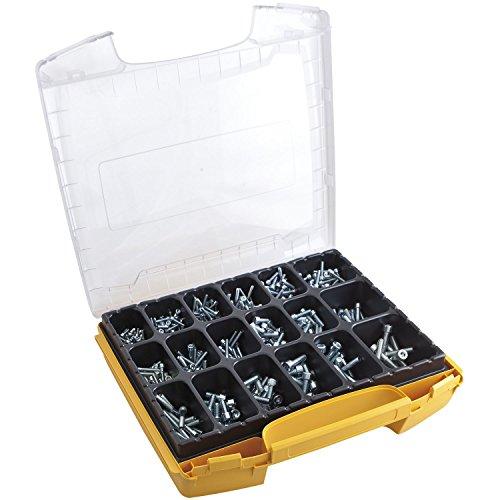 SECOTEC Profi Gewinde-Innensechskant-Schrauben-Set im hochwertigem I-Boxx Sortimentskoffer; 915 Stück Innensechskantschrauben DIN912 verzinkt