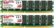 Komputerbay 2GB (2X 1GB) 184 Pin 400MHz PC3200 DDR DIMM Desktop-Speicher
