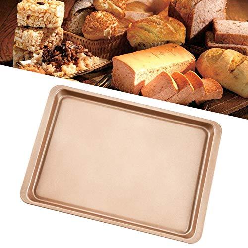 Backblech, 37 x 25,5 cm, langlebig, goldener Karbonstahl, leicht zu reinigen, antihaftbeschichtet, Backblech für Kekse Kuchen 37cm*25.5cm Wie abgebildet