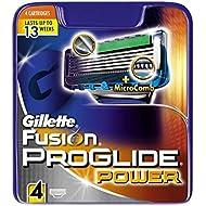 Gillette Fusion5 ProGlide Power Razor Blades for Men, 4 Refills