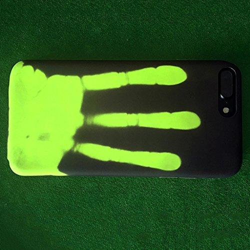 MagiDeal Magische Heat Sensitive Case Thermosensor Induktions Handytasche Tasche Hülle Handyhülle Für Iphone Handy - Schwarz zu grün Für Iphone 7 Plus Rot zu Orange Für iPhone 6 / 6s Plus