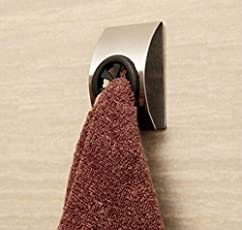 HOME CUBE® Bathroom Cloth Hanger Robe Wall Hook For Hanging,Clothes,Towel Steel Hook. (Set Of 4)