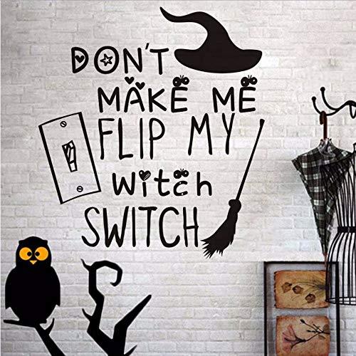Wzxhn Machen Sie Mich Nicht Meine Hexe Schalter Besenstiel Wandaufkleber Für Kinderzimmer Wand Dekor Festival Party Halloween Dekoration Zubehör 41 * 45 Cm