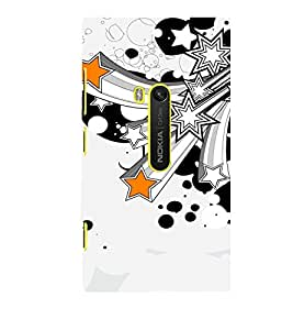 printtech Star Abstract Back Case Cover for Nokia Lumia 920 / Microsoft Lumia 920